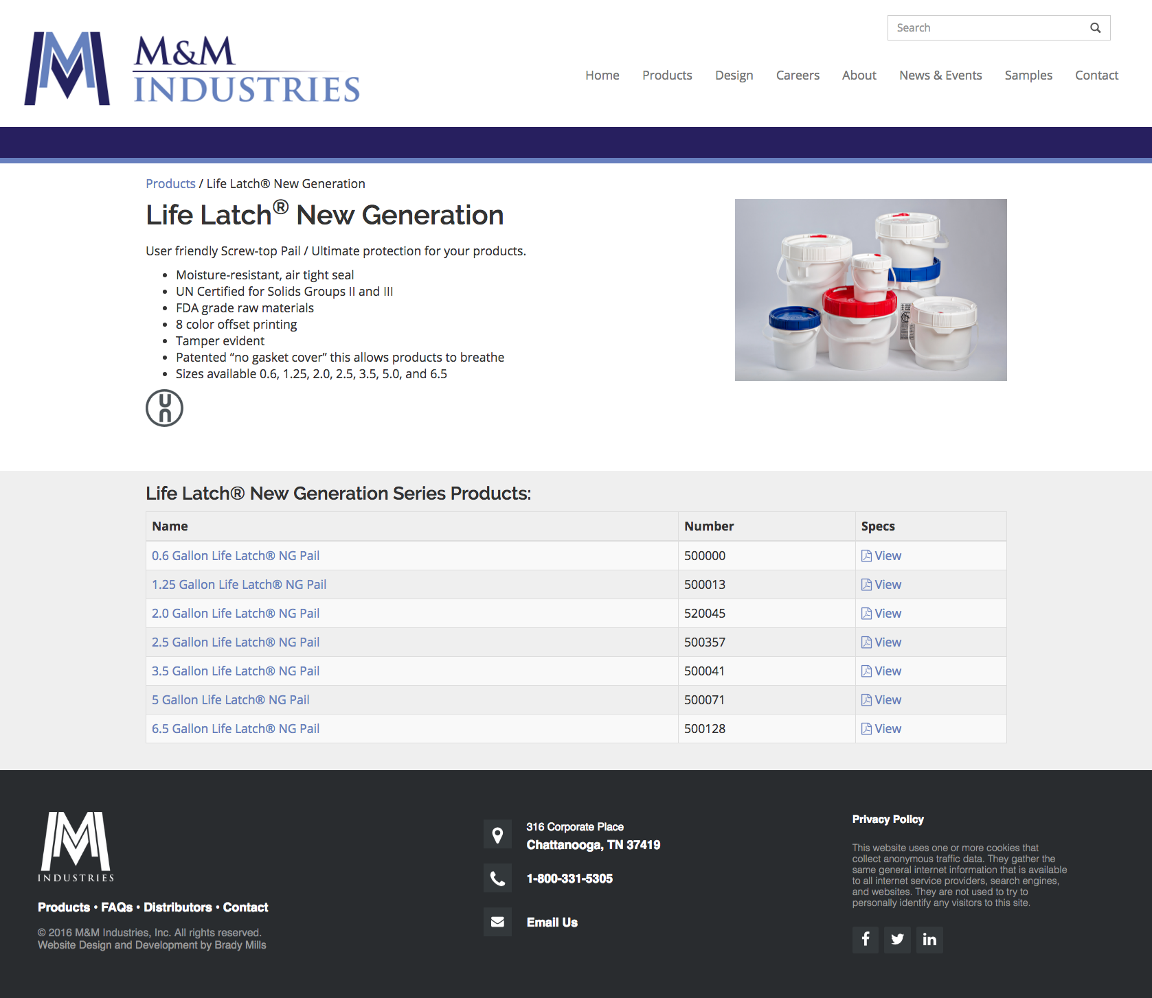 Website Design and Development for Manufacturing