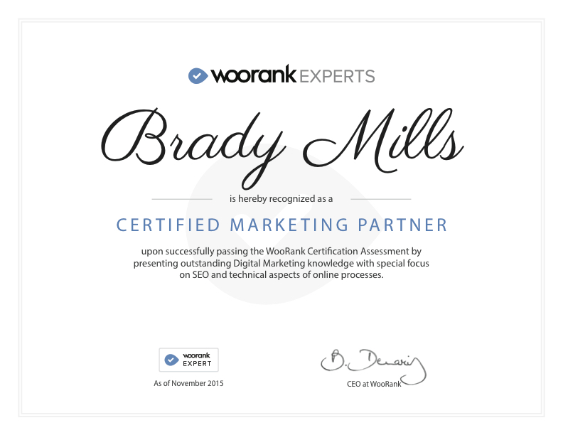 WooRank Expert Certificate