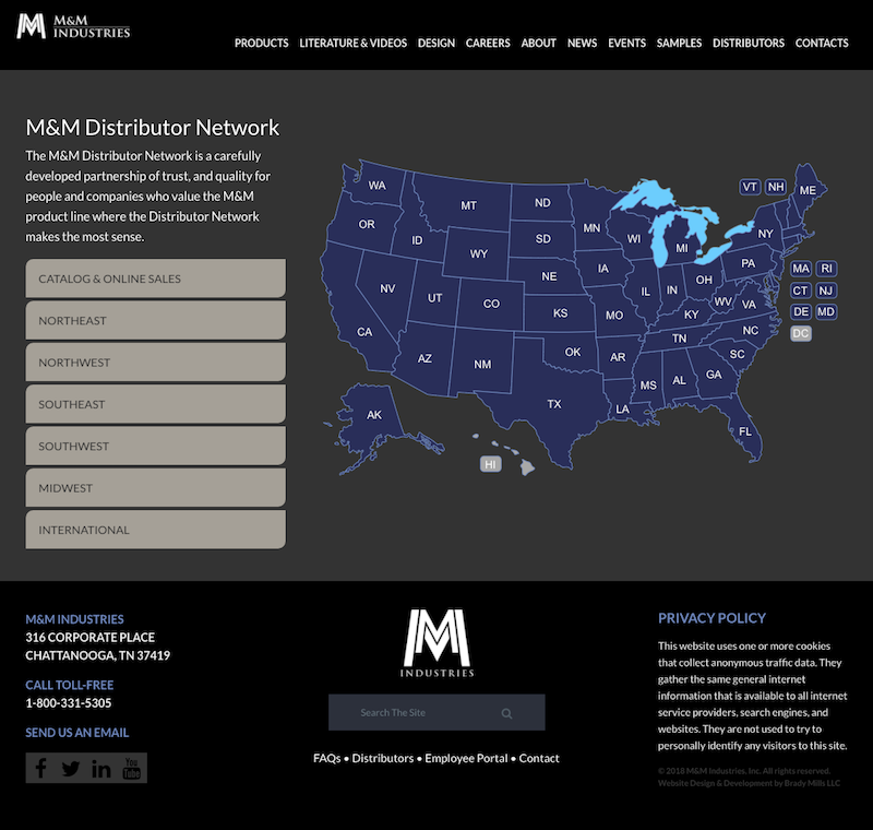 Interactive Website Location Map
