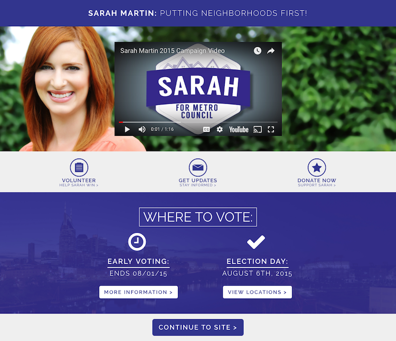 Political Website Design