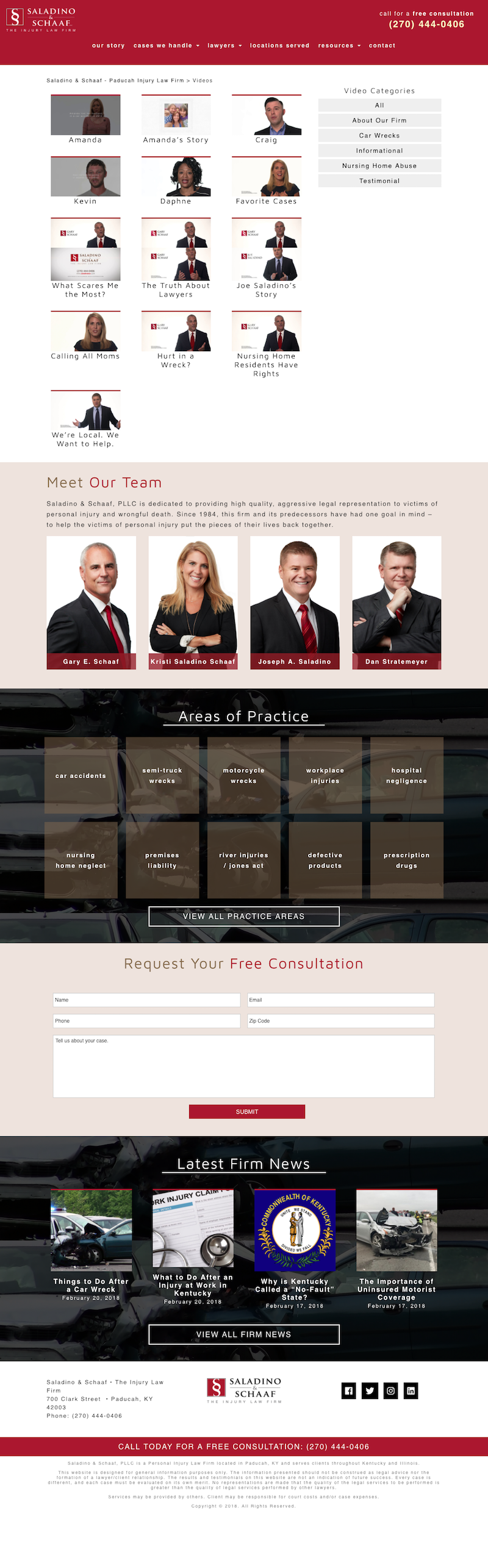 Personal Injury Attorney Website - Saladino & Schaaf