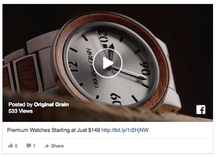 Video ads on Facebook